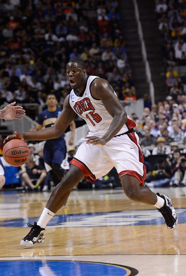 SAN JOSE, CA - MARCH 21:  Anthony Bennett #15 of the UNLV Rebels dribbles the ball up court against the California Golden Bears in the second half during the second round of the 2013 NCAA Men's Basketball Tournament at HP Pavilion on March 21, 2013 in San