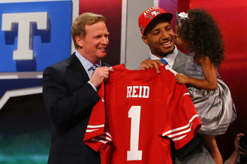 The 49ers traded up to draft Eric Reid.