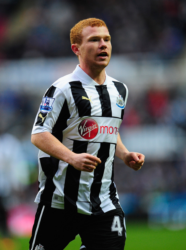 NEWCASTLE UPON TYNE, ENGLAND - MARCH 10:  Newcastle forward Adam Campbell in action during the Barclays Premier League match between Newcastle United and Stoke City at St James' Park on March 10, 2013 in Newcastle upon Tyne, England.  (Photo by Stu Forste