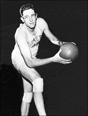 George Mikan. Photo credit to NBA.com.