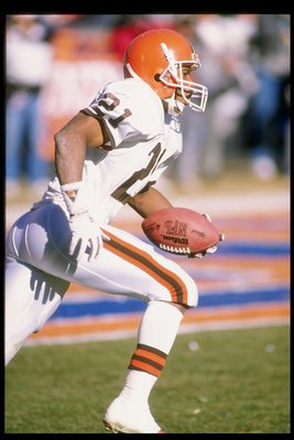 Eric Metcalf running with the Browns after college.