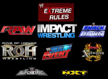 logos copyright of WWE, TNA WRestling and ROH Wrestling