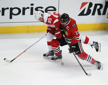 Jonathan Toews rebounded from his uncharacteristic meltdown in Game 5.