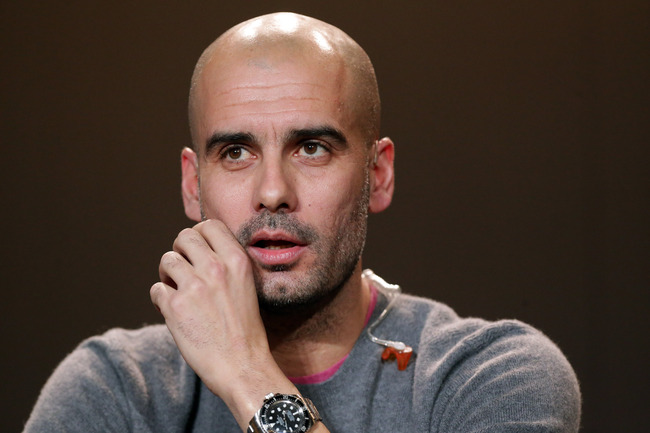 ZURICH, SWITZERLAND - JANUARY 07: Pep Guardiola, former head coach of Barcelona attends the Press Conference with nominees for World Player of the Year and World Coach of the Year for Men's Football on January 7, 2013 at Congress House in Zurich, Switzerl