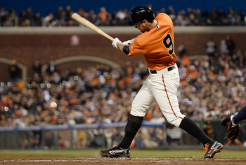 Brandon Belt has shown improved consistency at the plate.