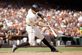 Hunter Pence leads the Giants with nine home runs.