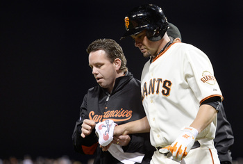 Ryan Vogelsong broke his pinky finger and will be out for several weeks.