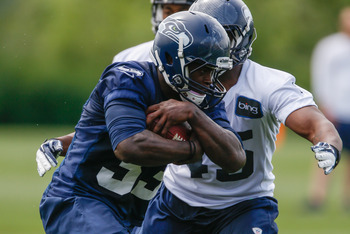 Christine Michael is a talented rookie who finds himself in a crowded Seattle backfield.