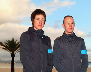 Team Sky's Bradley Wiggins and Chris Froome.