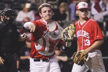 Oklahoma catcher Jon Denney has the potential to be a star with the bat. Image courtesy of Yukon HS