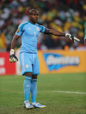 JOHANNESBURG, SOUTH AFRICA - FEBRUARY 10:  Vincent Enyeama of Nigeria during the 2013 Africa Cup of Nations Final match between Nigeria and Burkina at FNB Stadium on February 10, 2013 in Johannesburg, South Africa.  (Photo by Ian Walton/Getty Images)