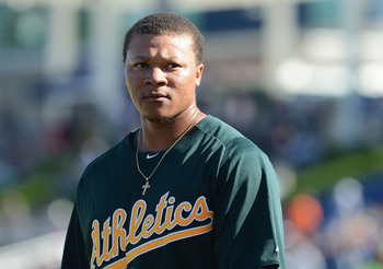 Choice may be in the A's outfield sooner than later.