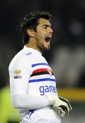 TURIN, ITALY - FEBRUARY 02:  Sergio German Romero of UC Sampdoria during the Serie A match between Torino FC and UC Sampdoria at Stadio Olimpico di Torino on February 2, 2013 in Turin, Italy.  (Photo by Claudio Villa/Getty Images)