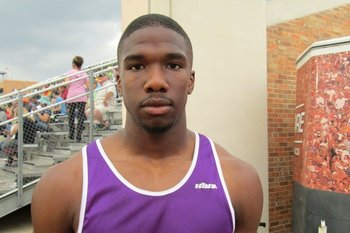 Emanuel Porter at the Texas state track meet in May. (Wescott Eberts/SB Nation)