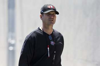Jim Harbaugh is focused on restoring world championship glory to the 49ers.
