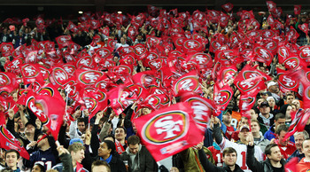 "The fan base, known as the ""49er Faithful"" cheer on their team."