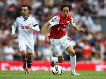 Benayoun during a mixed 2011-12 loan at Arsenal