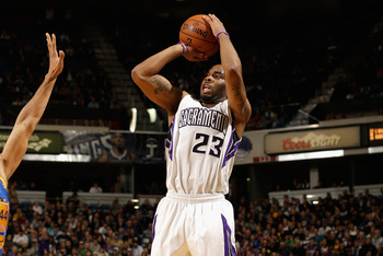 Marcus Thornton of the Sacramento Kings.