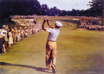 Ben Hogan in the 1950 U.S. Open (via Golf.com).