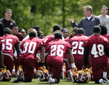 Redskins rookie minicamp—May 2013.