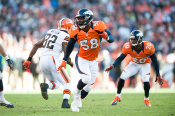 The strength of the Denver defense is the linebackers, led by Von Miller.