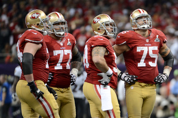 The 49ers field football's best O-line.