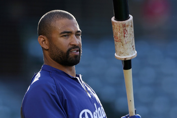 Matt Kemp's average dropped to .251 before he was placed on the DL.