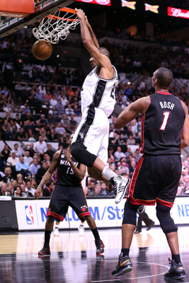 Duncan can still power a dunk home with authority.