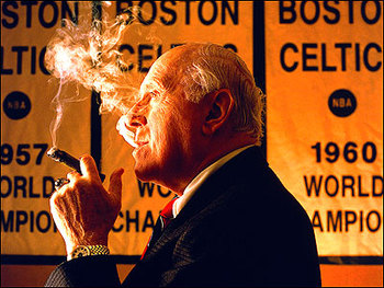 Auerbach coached the Celtics to eight titles in 16 seasons