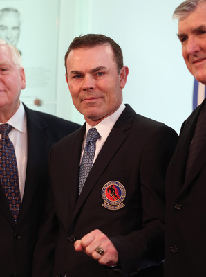 Adam Oates, being inducted into the Hockey Hall of Fame in 2012.