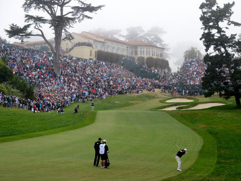 Olympic Club's difficult 18th hole.