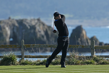 Sometimes it's hard to concentrate on golf at Pebble Beach.