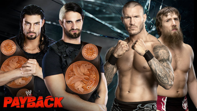 Randy Orton and Daniel Bryan vs. The Shield (Courtesy of WWE.com)