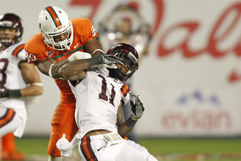 Miami smacked around Virginia Tech in 2012.