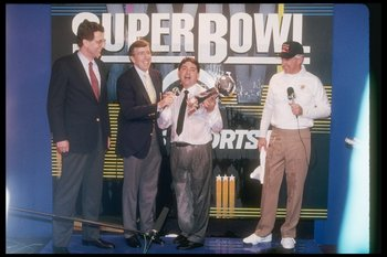 The 49ers celebrate Super Bowl XXIV.