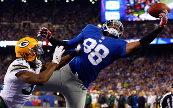 Hakeem Nicks doesn't think his absence from OTAs will prevent him from making catches like this in the regular season.