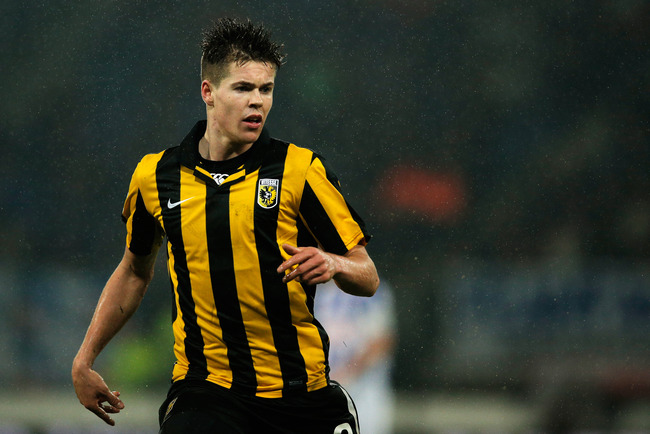 HEERENVEEN, NETHERLANDS - DECEMBER 22:  Marco van Ginkel of Vitesse in action during the Eredivisie match between SC Heerenveen and Vitesse Arnhem at Abe Lenstra Stadion on December 22, 2012 in Heerenveen, Netherlands.  (Photo by Dean Mouhtaropoulos/Getty