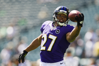 Ray Rice is one of the league's best at picking up the blitz.