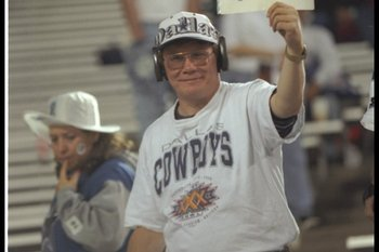 Cowboys fans at Super Bowl XXX in Tempe, Arizona.