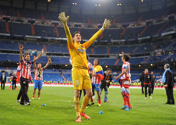 Courtois after Atleti's Copa del Rey victory this season