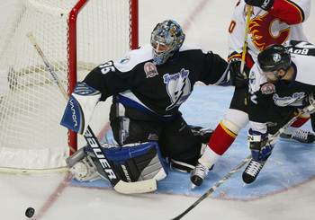 A Stanley Cup winner, Nikolai Khabibulin is Lightning fans' favorite goaltender.