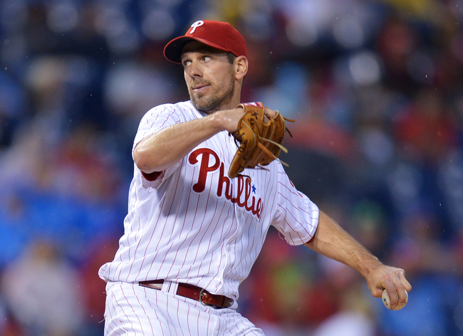 PHILADELPHIA, PA - JUNE 18: Starting pitcher Cliff Lee #33 of the Philadelphia Phillies delivers a pitching the first inning against the Washington Nationals at Citizens Bank Park on June 18, 2013 in Philadelphia, Pennsylvania. (Photo by Drew Hallowell/Ge