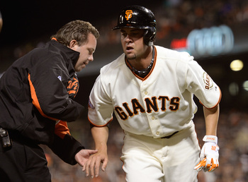 Ryan Vogelsong suffered a broken finger while batting against the Nationals.