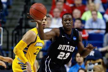Khyle Marshall is one of two returning seniors for Butler.