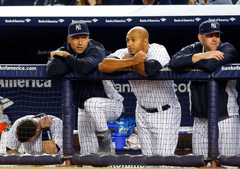 Jeter came back to hang with his teammates.