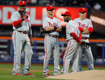 The Phillies' infield may look different come August.