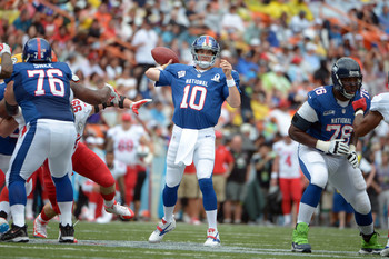 QB Eli Manning has been selected to three Pro Bowls.