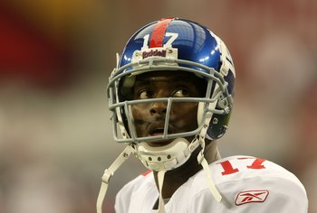 WR Plaxico Burress cost the Giants the '08 season.
