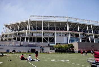The 49ers' new stadium will be open in time for the 2014 season.