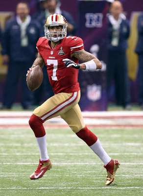 Colin Kaepernick leads the 49ers.